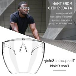 1/2pcs Face Shield Protective Face Cover Transparent Glasses