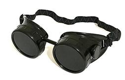 1 ALAZCO Black Welding Cup Goggles Steampunk - 50mm Eye Cup