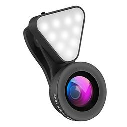 Wallfire 3 in 1 Cell Phone Lens with 3 Adjustable Brightness