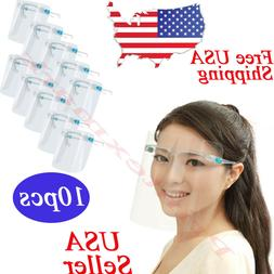 10 complete sets face shield glasses protector