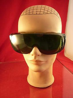 10 NORTH NO. 1114 SAFETY GLASSES MADE IN THE USA GREEN W/SID