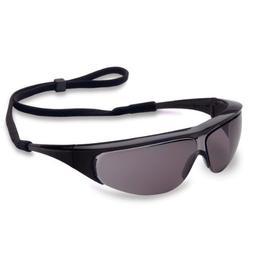 Uvex 11150356 Millennia Safety Eyewear, Black Frame, Gray UV