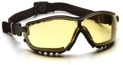 Pyramex V2G Glasses Black Frame/Amber Anti-Fog Lens