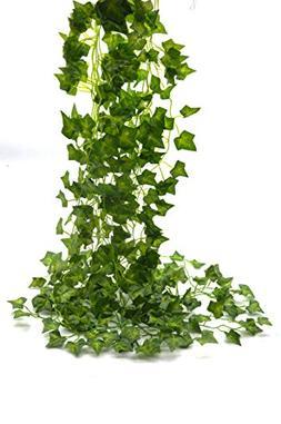 Beebel Ivy Leaves 85Ft 12 strands Artificial Fake Leaves Han