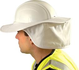 1EA-OccuNomix One Size Cotton Hard Hat Shade - WHITE