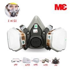 12pcs in 1 suit 3M 6200 Gas Mask Respirator Painting Industr