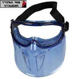 JACKSON SAFETY 18629 Goggle/Faceshield, Antifog Clear Polyca
