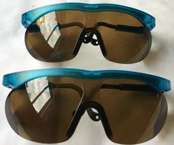 2 Uvex Genesis Safety Glasses Blue Adjustable Frame Lens Bro
