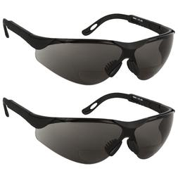 2 PAIR LOT Bifocal Safety Reading Sunglasses Glasses Reader