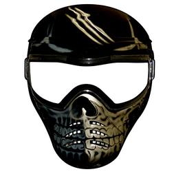 Save Phace 2000100 Half Skull Tactical Mask TM, One Size, Bl