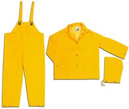 MCR Safety 2003L Classic PVC/Polyester 3-Piece Rainsuit with