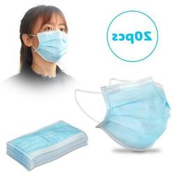 20X Disposable 3Ply Filter Face Mouth Shield Anti Fog Dust C
