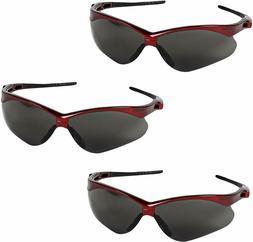 Jackson Safety 22611 Nemesis Safety Glasses 3 Pair Inferno R