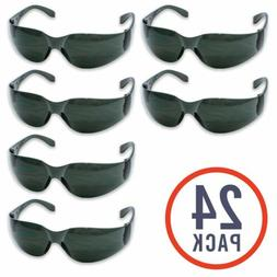 24 Pack of Tinted Safety Glasses  UV Resist