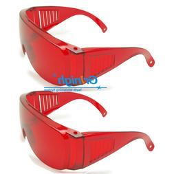 2x Dental Eye Protection Goggles Violet/Blue/Green 200-560 L