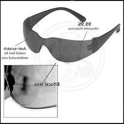 Bifocal Safety Glasses, Dark 1.5 Diopter Lens Reader Glasse
