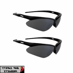 3 PAIR NEMESIS SAFETY GLASSES SUNGLASSES BLACK SMOKE MIRROR