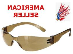 6 Pair Of RUGGED BLUE Kids Amber Tinted Safety Glasses*Child