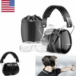 Mpow 34DB Ear Muffs Safety Shooter Hearing Protection Ear De