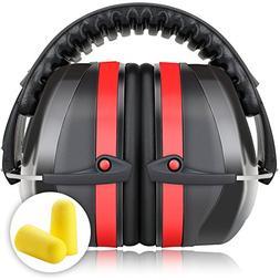 Fnova 34dB Highest NRR Safety Ear Muffs - Professional Ear D