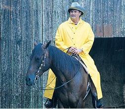 MCR Safety 35mm, 60 Inch Riding Rain Coat in Yellow - Medium