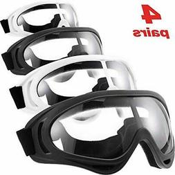 Frienda 4 Pairs Protective Goggles Safety Glasses Eyewear fo