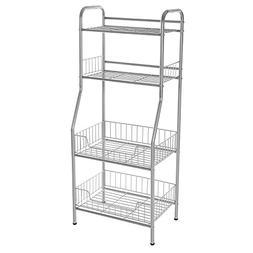 SONGMICS 4-shelving Unit Shelf Display Standing Storage Rack