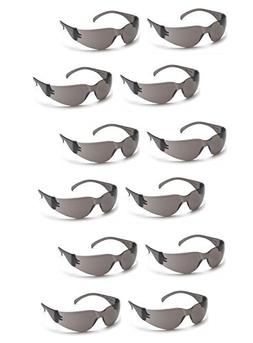Pyramex 4100 Series Glasses, Gray-Lens, Gray, 12pk