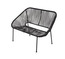 "Deco 79 44550 Metal Plastic Bench, 50"" x 34"", Black"