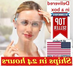5set Safety Face Shield Protector With Glasses Clear Reusabl