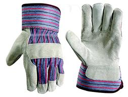 G & F 5015L-5 Regular Cowhide Leather Palm Work Gloves for d
