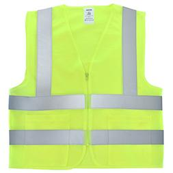 Neiko 53962A High Visibility Safety Vest with 2 Pockets, ANS