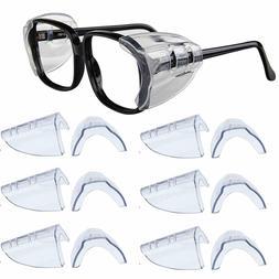 6 Pair Safety Eye Glasses Side Shields Clear Flexible Slip O