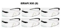 SIX PAIRS OF CREWS DESPERADO SAFETY SHOOTING GLASSES BLACK/