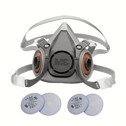 3M 6000 Series Respirator Medium Half Mask Facepiece with Ad