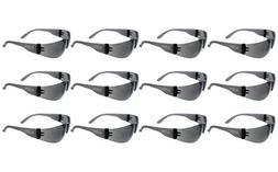 ABN 7715 Safety Glasses Smoke Lens, UV ANSI standard 12-Pack