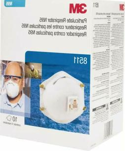 3M 8511 Particulate Respirator N95 mask With Valve 10 pack m