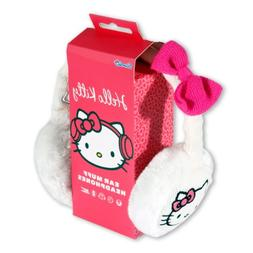 Hello Kitty Cosy Kitty Knitted Ear Muff Headphones White wit