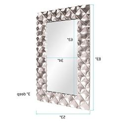 Howard Elliott 43111 Krystal Modern Mirror, Silver
