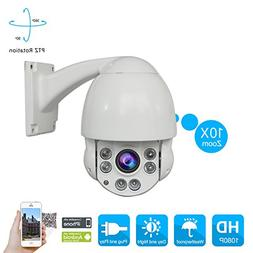 IP Camera Speed Dome PTZ Camera 2.0 Megapixel 1080P Outdoor