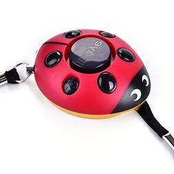 130DB Safety Emergency Personal Alarm KeyChain with LED Ligh