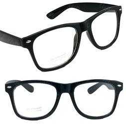 New Mens Women Clear Lens Cat Eye Black Frame Fashion Glasse