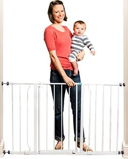 Regalo Easy Open 50 Inch Wide Baby Gate, Pressure Mount with