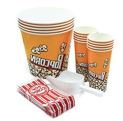 Set of 50+ Popcorn containers - 5 Buckets  - 10 Cups  - 35 P