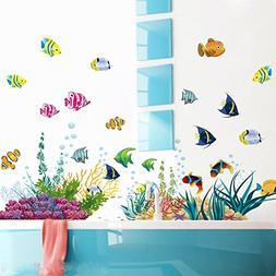 Under the Sea Decals The Deep Blue Sea Fishes Decorative Pee