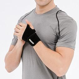 Bracoo Wrist Wrap, Reversible Compression Support for Sprain