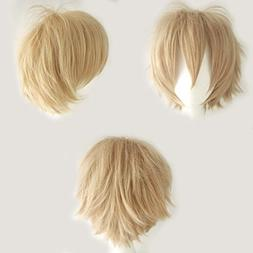 Anime Cosplay Synthetic Full Wig with Bangs 20 Styles Short