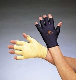 Anti Impact Glove, Three QuarterFingers, Leather Palm, Left