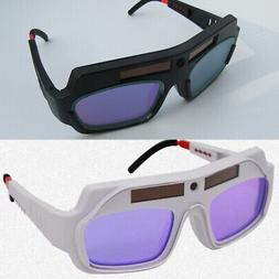 Anti UV Solar Powered Welding Soldering Goggles Glasses Safe