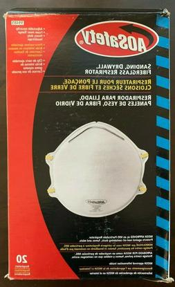AOSAFETY® 20pk Sanding, Drywall, & Fiberglass Respirators w
